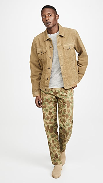 Naked & Famous Double Sided Camo Work Trousers