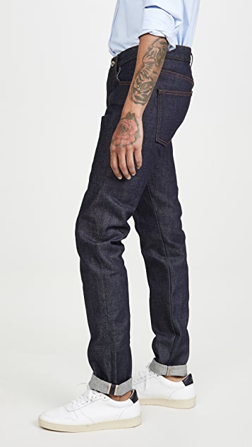 Naked & Famous Super Guy Denim in Dirty Fade Selvedge