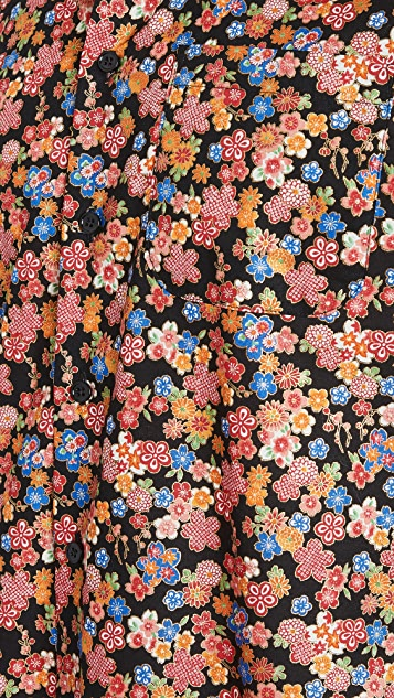 Naked & Famous Japan Festival Floral Easy Shirt