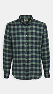 Naked & Famous Herringbone Plaid Easy Shirt