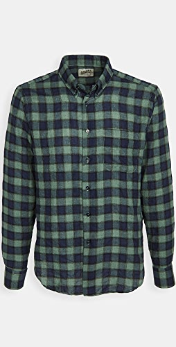 Naked & Famous - Herringbone Plaid Easy Shirt