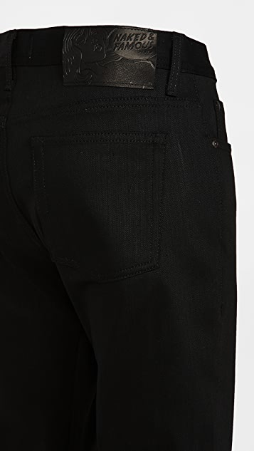 Naked & Famous Black Cashmere Weird Guy Denim Jeans