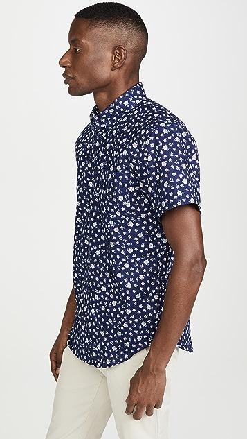 Naked & Famous Short Sleeve Romantic Flowers Shirt