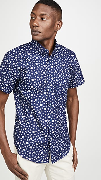 Naked & Famous Short Sleeve Romantic Flowers Shirt