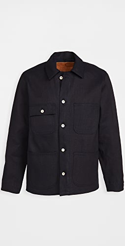 Naked & Famous - Indigo Basket Weave Coat