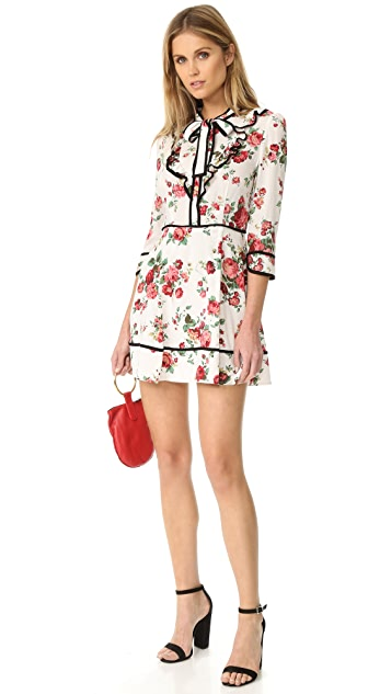 re:named Floral Neck Tie Dress