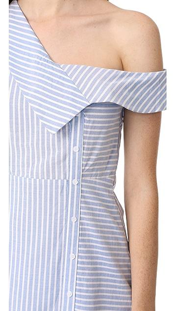 re:named Oxford Asymmetrical Dress