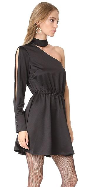 re:named One Shoulder Mock Neck Dress