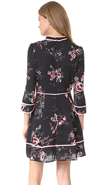 re:named Floral Tie Neck Dress
