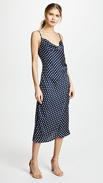 re:named Polka Dot Slip Dress