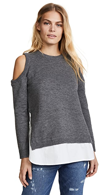 re:named Cold Shoulder Sweater
