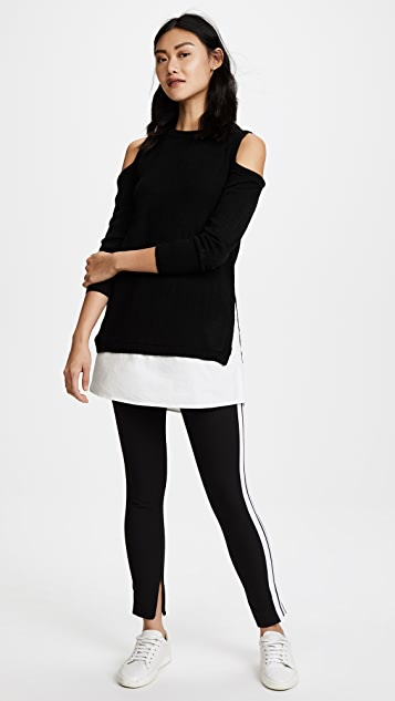 re:named Cold Shoulder Sweater Dress