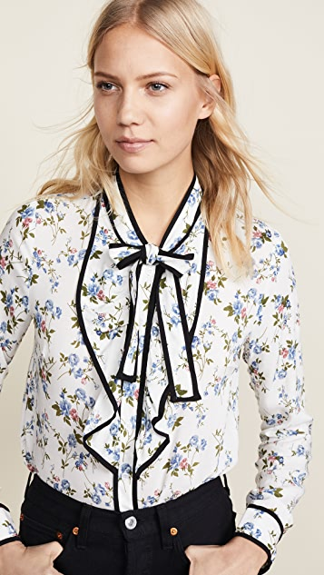 re:named Floral Blouse