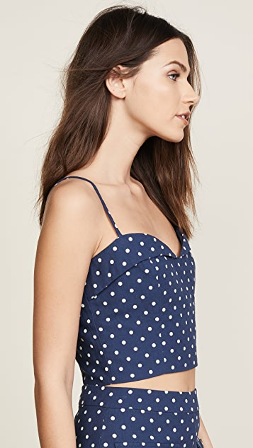re:named Polka Dot Bustier Top