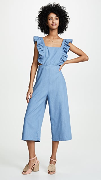re:named Amy Ruffle Jumpsuit