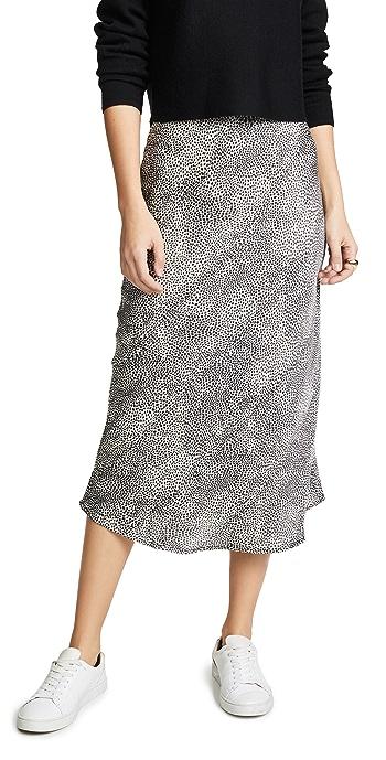 re: named Leopard Midi Skirt - White/Black
