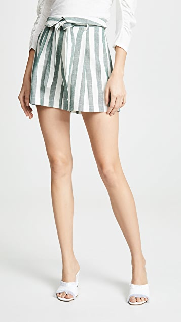 Re Named Kiara Stripe Shorts