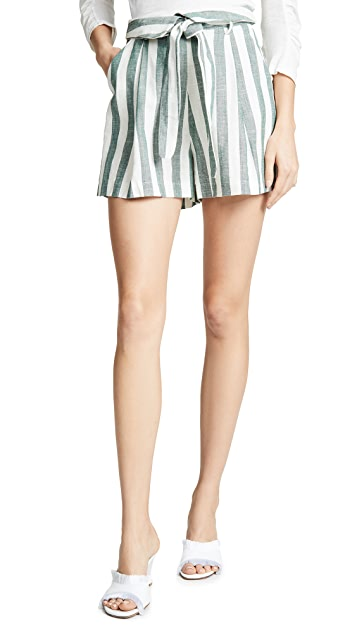 re:named Kiara Stripe Shorts