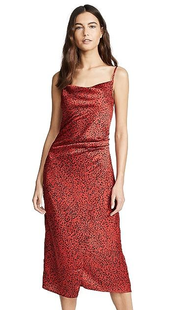 re:named Leopard Slip Dress