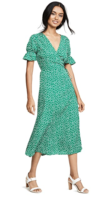 re:named Drew Polka Dot Wrap Dress