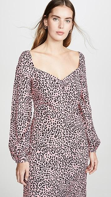 re:named Amanda Leopard Midi Dress
