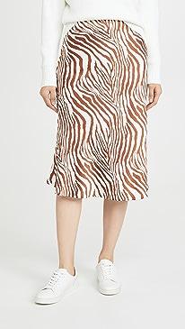 Wild Zebra Midi Skirt