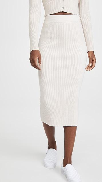 re:named Gigi Knit Long Skirt