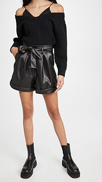 re:named Faux Leather Shorts