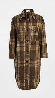 re:named Plaid Long Jacket