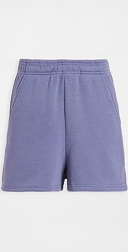 re:named - Terry Fleece Elastic Waist Shorts