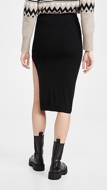 re:named Janet Knit Slit Skirt