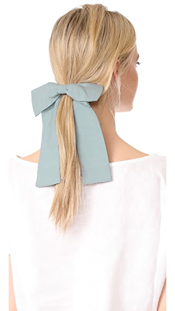 NAMJOSH Chambray Bow Hair Tie