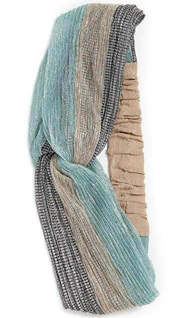 NAMJOSH Lurex Turban Headband