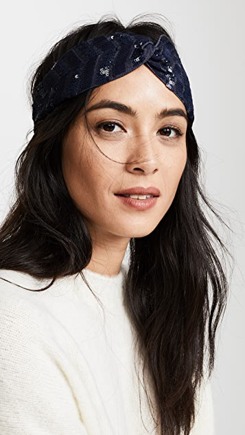 NAMJOSH Denim Turban Headband
