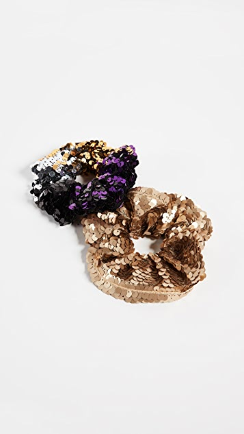 NAMJOSH Sequin Scrunchie Set