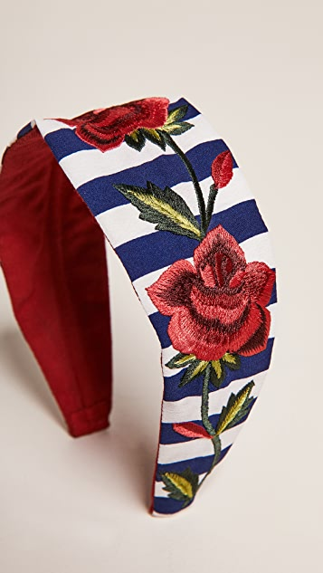 NAMJOSH Striped Rose Headband