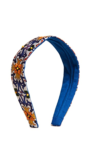NAMJOSH Ornate Floral Print Headband