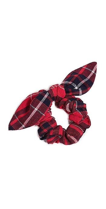 NAMJOSH Red Plaid Scrunchie - Red Plaid
