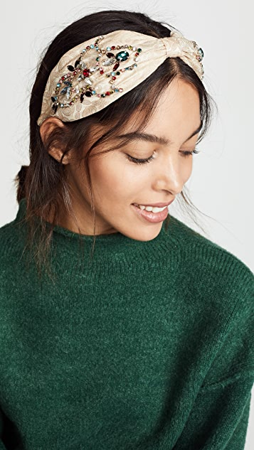 NAMJOSH Jewel Tone Embellished Headband