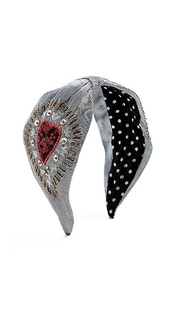 NAMJOSH Silver Embroidered Headband
