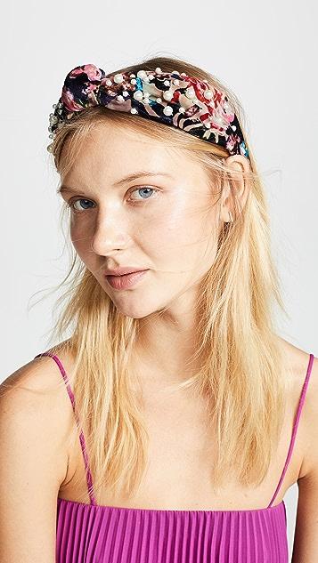 NAMJOSH Floral Burnout Headband