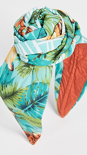 NAMJOSH Tropical Print Bun Headband