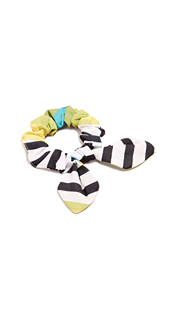 NAMJOSH Striped Colorblock Scrunchie
