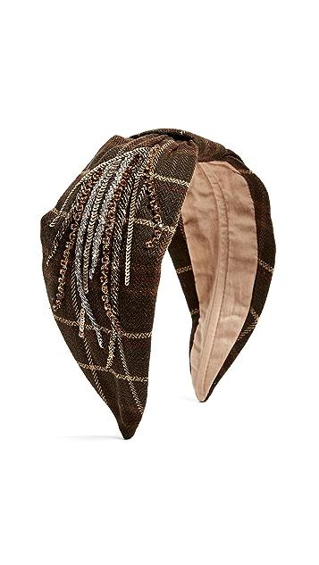 NAMJOSH Olive Plaid Headband