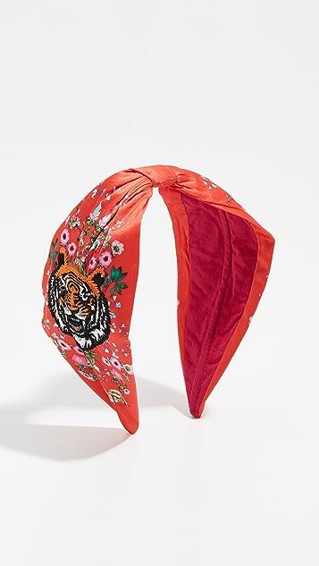 NAMJOSH Tiger Embroidered Headband