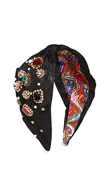 NAMJOSH Solid Jeweled Headband