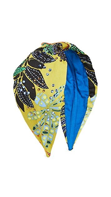 NAMJOSH Lime Print Headband