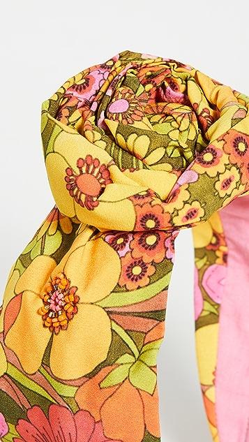 NAMJOSH Yellow Floral Bun Headband