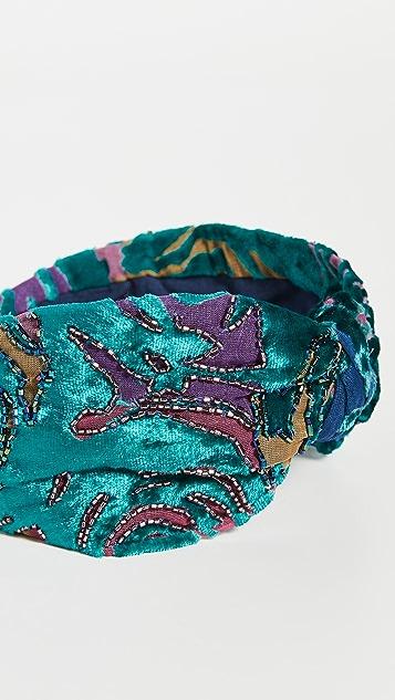 NAMJOSH Обруч из бирюзовой прожженной ткани