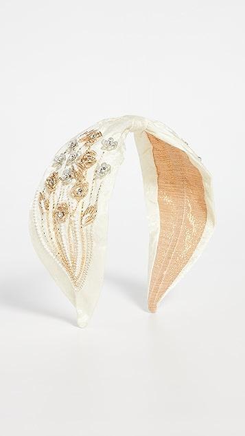 NAMJOSH Ivory Floral Embellished Headband